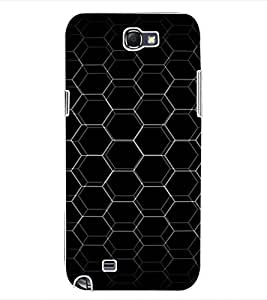ColourCraft Chamber Design Back Case Cover for SAMSUNG GALAXY NOTE 2 N7100