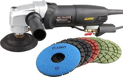 "DAMO Stone Polisher/Concrete Polisher 5"" Wet Polishing Kit for Concrete Floor/Countertop from DAMO Diamond Tools LLC."