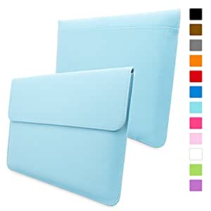 Snugg™ Macbook Air & Pro 13 Case - Leather Sleeve with Lifetime Guarantee (Baby Blue) for Apple Macbook Air 13 and Macbook Pro 13 with Retina