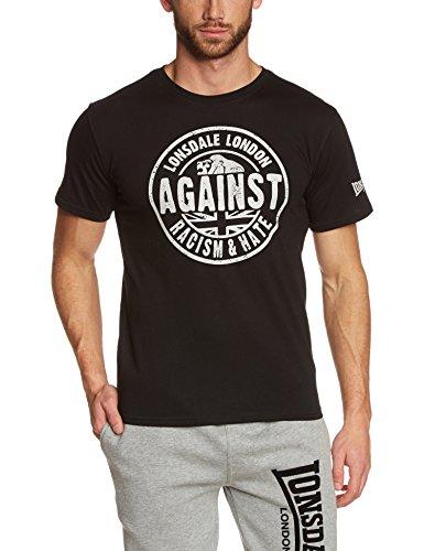 Lonsdale - T-Shirt Trägerhemd Against Racism, Maglia a maniche lunghe Uomo, Nero (Schwarz), XX-Large (Taglia Produttore: XX-Large)