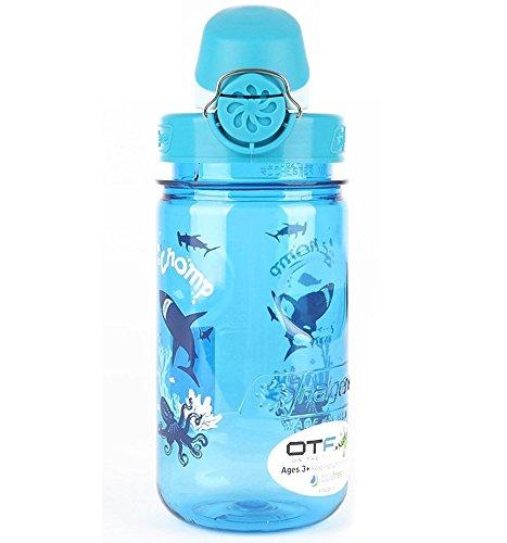 Nalgene Kids Otf Chomp Bottle (Slate/Blue, 12-Ounce) front-558293