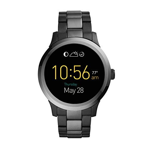 FOSSIL Q Founder Men's (Unisex) Digital Watch with LCD Dial and Black Stainless Steel Bracelet FTW20022