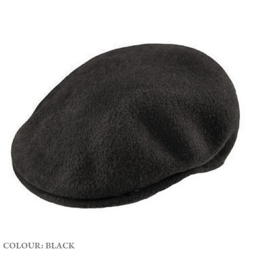 Kangol 504 Wool Flat Cap Black Large