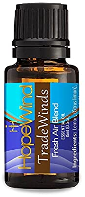 #1 Air Freshener Essentail Oil blend, 100% Pure Essential Oil, Natural non-chemical Air Purifying, Undiluted, Organic essential oil, 15ml/0.5oz - Tradewinds by HopeWind Health