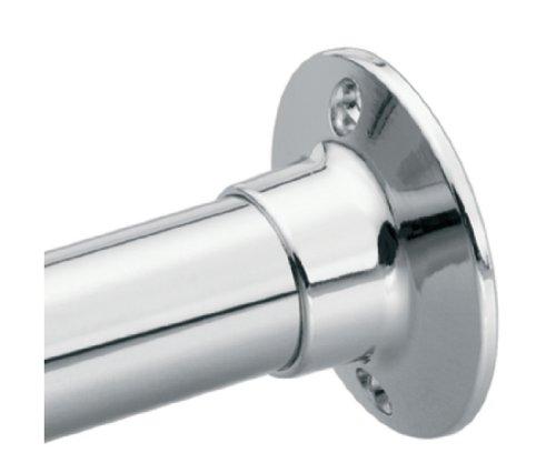 Shower Curtain Rods Moen 63 F Donner Shower Rod Flange Set Chrome