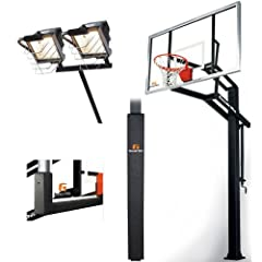 Goalrilla GLR GSI 72 Basketball System with Deluxe Hoop Light, Backboard and Pole... by Goalrilla