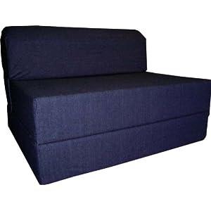 Back To Bed Mattress Denim Sleeper Chair Folding Foam Bed Sized 6