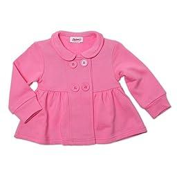 Zutano Baby-girls Infant Terry Bodice Jacket, Hot Pink, 6 Months