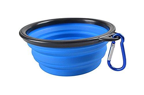 2er-Pack-Faltbare-Hundebox-Faltbare-Erweiterbar-Tasse-Schssel-fr-Haustier-Katze-Lebensmittel-Wasser-Fttern-tragbar-Reise-Schssel-mit-Karabiner