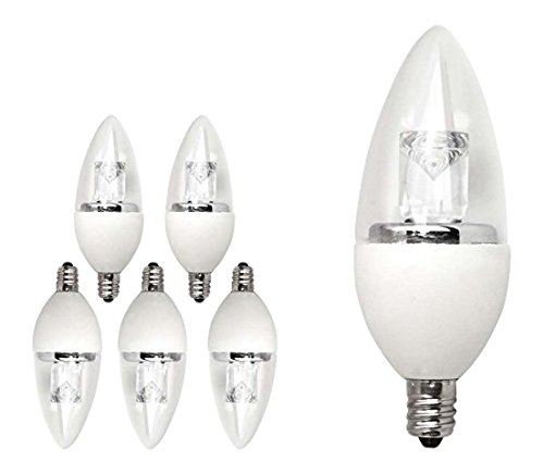 TCP 40 Watt Equivalent 6-pack, LED Deco Chandelier Light Bulbs, Small Candelabra Base, Dimmable, Soft White LDCT40W27K6 (Tcp Led Bulbs compare prices)
