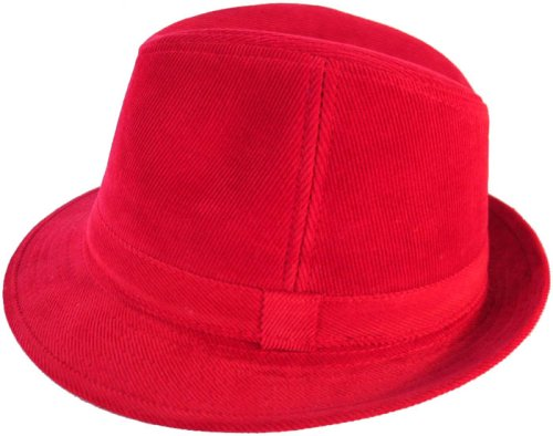 Buy Cordouroy Fedora Trilby Bucket Hat Sexy – Red, Pink or Tan
