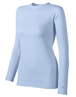 Duofold Women's Mid Weight Wicking Crew Shirt, Frost, Medium