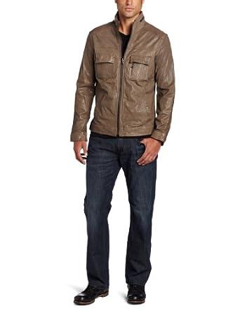 (超帅)Kenneth Cole肯尼斯科尔 Moto Jacket 男士100%真皮机车夹克 折后$156.15