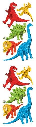 Jillson Roberts Prismatic Stickers, Dinosaur Assortment, 12-Sheet Count (S7194)