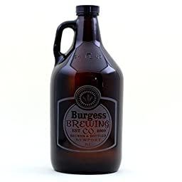 Personalized Engraved Home Brew Growler with Classy Simple Label Design