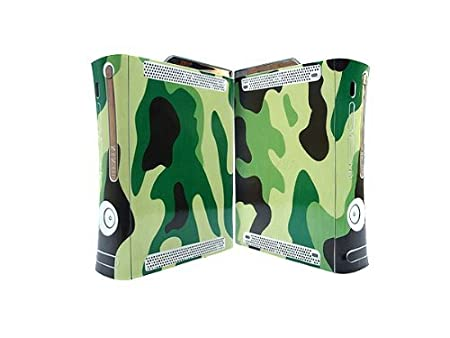 Bundle Monster Vinyl Skins Accessory For Xbox 360 Game Console - Cover Faceplate Protector Sticker Art Decal - Camouflage