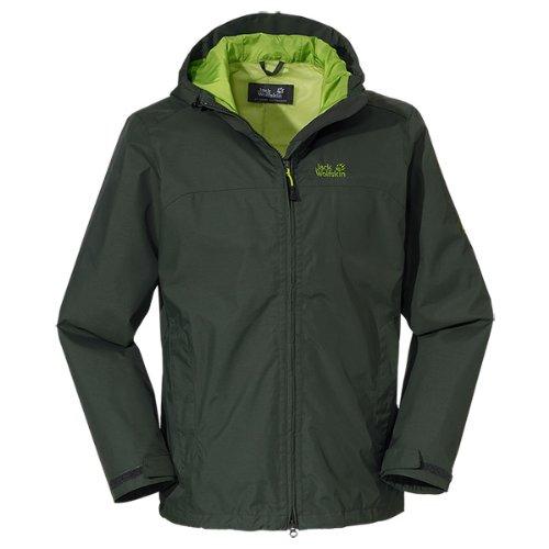 Jack Wolfskin Herren Wetterschutzjacke Arroyo Jacket Men, Olive Drab, L, 1104292-4053004 günstig online kaufen