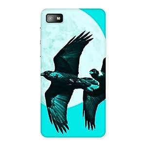 Cyan Raven Back Case Cover for Blackberry Z10