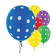 Latex Primary Color Polka Dot Balloons 20ct