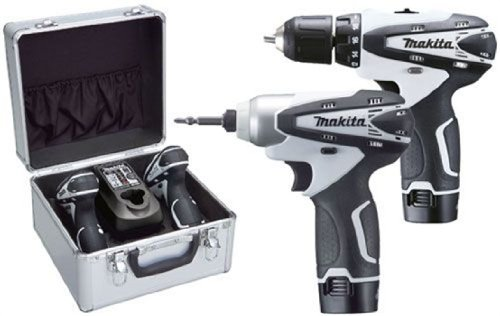 Makita LCT204W 10.8V Li-ion Cordless Kit with 2 x 1.3Ah Batteries (2 Pieces)
