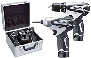 Makita LCT204W Cordless Drill Plus Impact Driver Kit - White