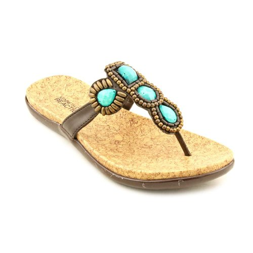 Kenneth Cole Reaction Women'S Glam Me Up Thong Sandals In Bark Size 7.5 front-1003294