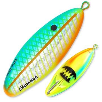 Bomber Salt Water Who Dat Weedless Rattling Spoon Lures, Citrus, 2.625-Inch