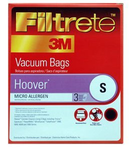 Type S Hoover Vacuum Cleaner Replacment Bag (3 Pack) front-354281
