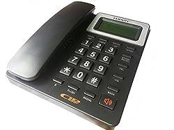 Glive's Orientel KX-T1566CID Caller ID Telephone Landline Phone ( Black )