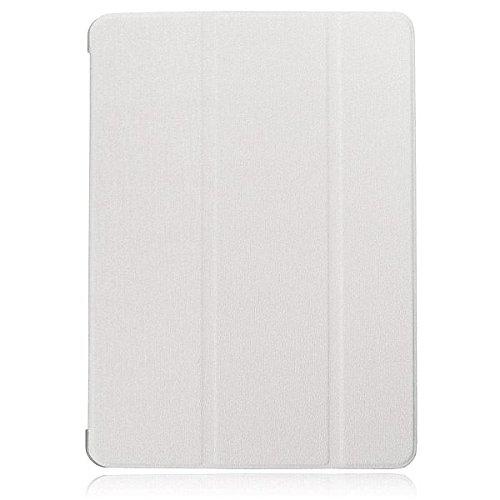 Ultra Slim Smart Spur Schlaf Magnetic Leder Standplatz Hülle für iPad 2 Air (Farbe: weiß)