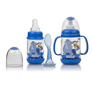 Nuby Infant Feeder Feeding Bottle Set *Multi Colors* BPA Free