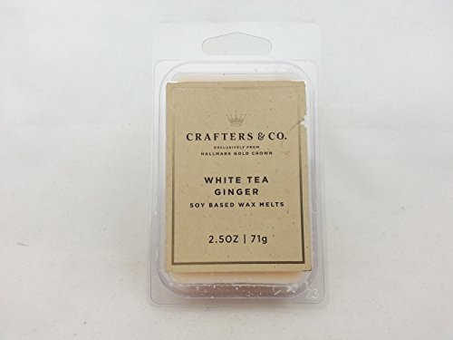Crafters & Co - Soy Based Wax Melts - White Tea Ginger - From Hallmark Gold Crown (White Gold Wax compare prices)