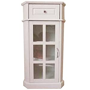 glaze bathroom glass door storage cabinet white