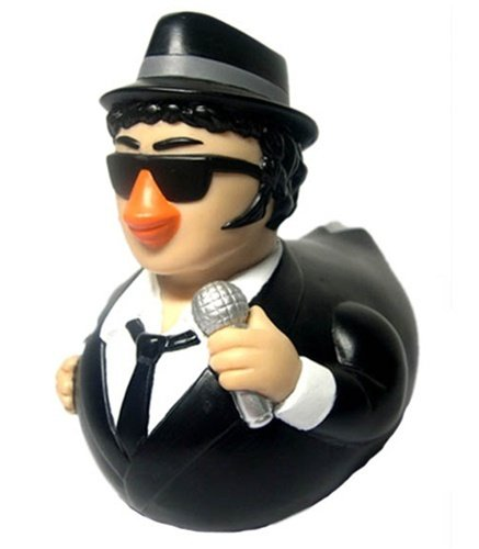CelebriDucks Blues Brothers Jake RUBBER DUCK John Belushi Bath Toy