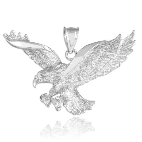 Regno Animale Da donna, in argento Sterling 925Flying Eagle Pendant