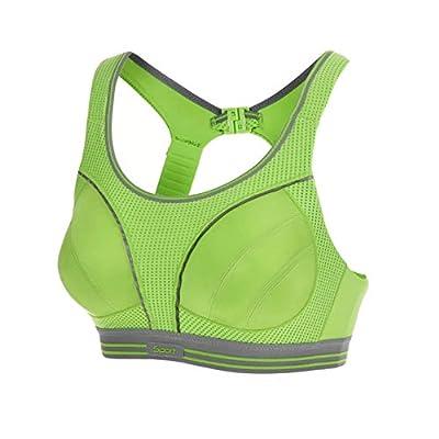 Professional Women's Sports Bra Shock Absorber Running Bra(38C, Green) from Kylin Express