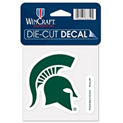 Buy Michigan State Spartans Official NCAA 4x4 Die Cut Car Decal by WinCraft