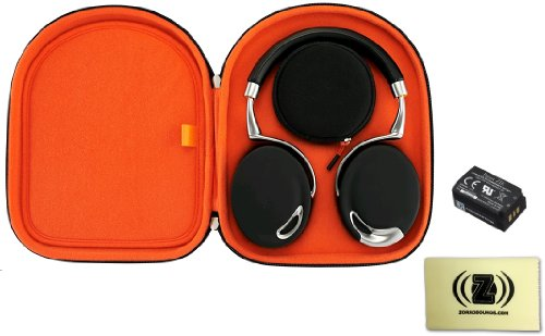 Parrot Zik Active Noise Cancelling Concert Hall Effect Bluetooth Headphones Bundle With Parrot Zik Headphone Case, Parrot Zik Battery And Custom Design Zorro Sounds Cleaning Cloth