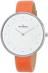 Skagen Women's SKW2135 Gitte Quartz 2 Hand Stainless Steel Orange Watch