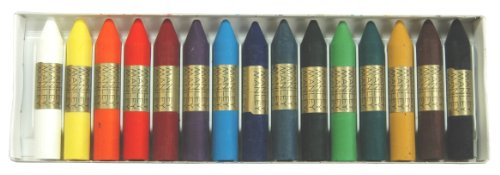 Kuresan oily wax crayons 15 colors ref.115 (japan import)