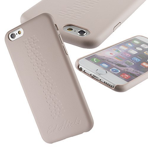 Custodia di Cuoio, Semirigida Protettiva Sottile per Apple iPhone 6 6S Plus - Revel di Ed Hicks - Beige Latte