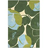 Amy Butler Field Poppy Wool Rug - Green