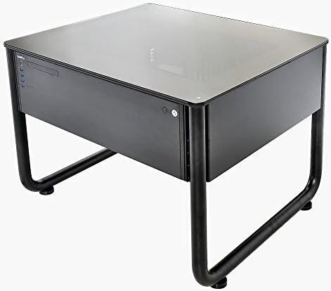 Lian Liデスク型PCケース 強化ガラス天板仕様 DK-Q1X フルブラック