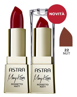 ASTRA MANY KISSES 22 Nut Rossetto* Cosmetici