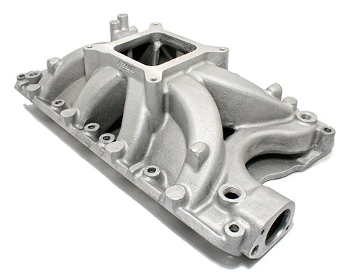 Ford SBF 351W Windsor High Rise Aluminum Intake Manifold Polished Single Plane