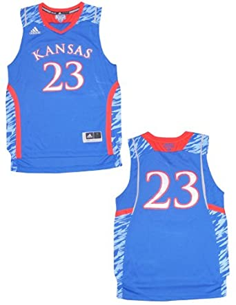 NCAA Kansas Jayhawks #23 Youth Pro Quality Athletic Jersey Top by NCAA