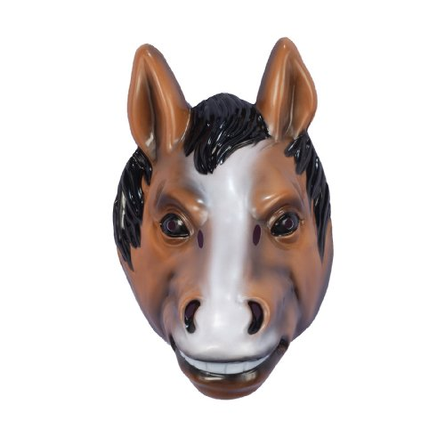 Horse Mask Child, Brown, One Size