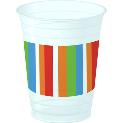 Candle and Wishes 14 oz Plastic Cups-8 count