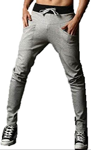 Cedon-Mens-Sarouel-Stylish-Casual-Simple-Sports-Fitness-Sweat-Pants