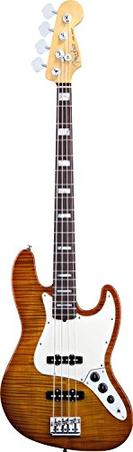 Fender Select Jazz Bass, Rosewood Fingerboard - Amber Burst